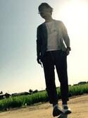 Ayato Kaminaさんの「コンフォータブル3WAYブリーフケース(TAKEO KIKUCHI タケオキクチ)」を使ったコーディネート
