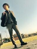 Ayato Kaminaさんの「シャークスキン ベスト Fabric by Loro  Piana(TAKEO KIKUCHI|タケオキクチ)」を使ったコーディネート