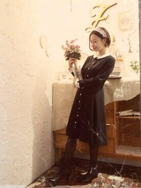 F i.n.t Daikanyama|Fi.n.tdaikanyamaさんの「ベルト付きクレリック衿ワンピース/F i.n.t(F i.n.t)」を使ったコーディネート