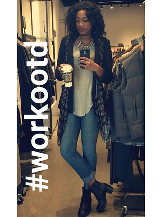 「7 For All Mankind Rozie Cosmic Blue Skinny Jeans(7 For All Mankind)」 using this Marissa looks