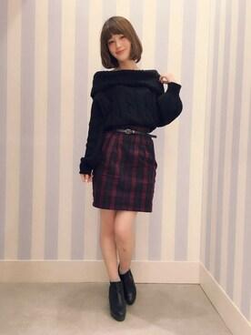 Heather 高崎モントレー店 suzuka_akutsuさんの「15FWベルトツキコクーンスカート 568418(Heather)」を使ったコーディネート