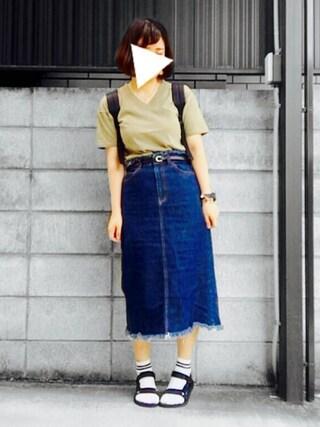 「タッセルイヤリング+ 716465(LOWRYS FARM)」 using this みいちゃん looks