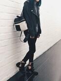 「KARA Classic Backpack(Kara)」 using this Sharon looks