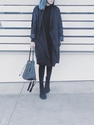 「THE ROW Backpack 11 Leather Hobo Bag, Black(The Row)」 using this Sharon looks