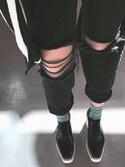 Sharonさんの「Moto black ripped hayden jeans(Topshop|トップショップ)」を使ったコーディネート
