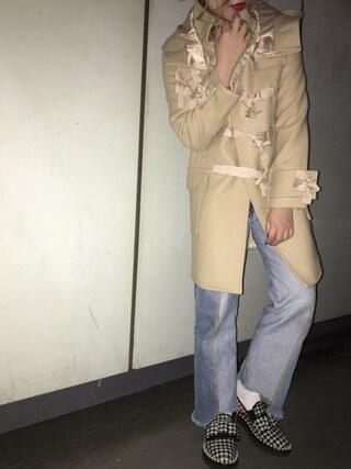 CANNABIS LADIES 新宿 Haruna Akiyamaさんの「CHERIE DUFFLE COAT C0641(CHERIE シェリー)」を使ったコーディネート