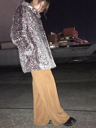 CANNABIS LADIES 新宿 Haruna Akiyamaさんの「daughter dau16aw-01 Leopard fur Coat(CANNABIS LADIES カンナビス レディース)」を使ったコーディネート