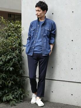 MEN'SMELROSE HEAD OFFICE( SHOP STAFF)|N.NAKAMURAさんの(MEN'S MELROSE|メンズ メルローズ)を使ったコーディネート
