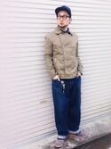 「Edwin Shirt Labor Herringbone 2 Pocket - Blue(Edwin)」 using this とちお looks