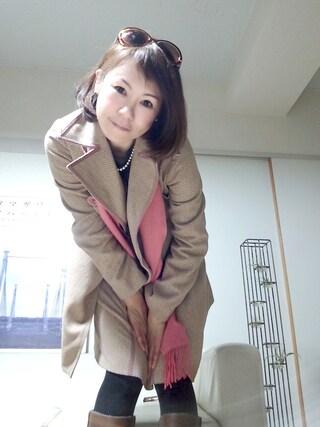 *レイ*-R-さんの「KOYUKI PARIS コート」を使ったコーディネート