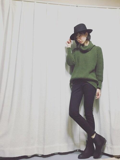 SH☆MKさんの「(HATS & DREAMS)46728/174 FELT HAT(ROSE BUD)」を使ったコーディネート