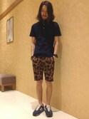 きたださんの「GPボタンダウン無地ポロシャツ(ikka|イッカ)」を使ったコーディネート