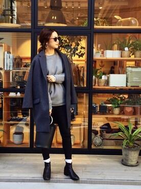 LIFE's堀江店|SAAYA KOUZAWAさんの「ウールチェスターコート(TODAYFUL)」を使ったコーディネート