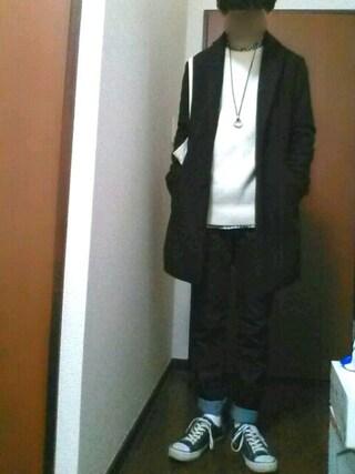 【daiki】さんの「KIDS レギュラーソックス(無地・2足組)(ユニクロ ユニクロ)」を使ったコーディネート