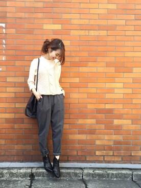Kastane 金沢フォーラス店|MihoUesugiさんの「Tシャツ、ニットベストセット(Kastane)」を使ったコーディネート