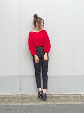 Kastane 金沢フォーラス店|MihoUesugiさんの「モチモチバルーン袖PO(Kastane)」を使ったコーディネート