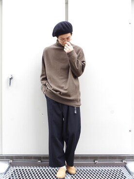 Lui's ルミネマン渋谷店|あらいさんの「ウールベレー帽(Lui's)」を使ったコーディネート