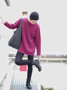Lui's ルミネマン渋谷店|あらいさんの「【SCHA/シャー】 ニットキャップ(SCHA)」を使ったコーディネート