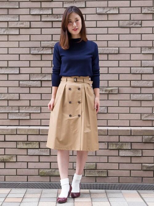 トレンチスカートおすすめ10選♡たった1枚でコーデを上品&フェミニンに