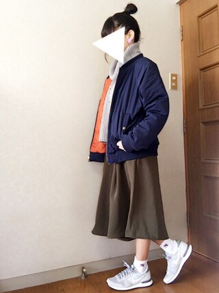 Reiさんの「(GU)イージードレープガウチョパンツA(GU|ジーユー)」を使ったコーディネート