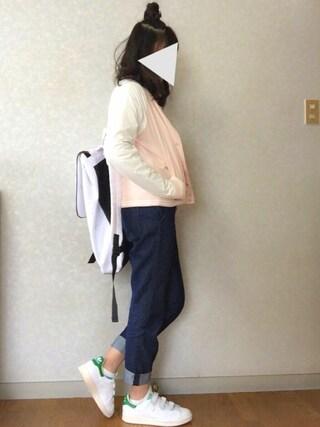 Reiさんの「オリジナルス スタンスミス ベルクロ[STAN SMITH CF](adidas originals|アディダスオリジナルス)」を使ったコーディネート