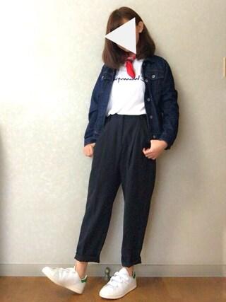 Reiさんの「【CHAMPION】ロゴTシャツ(Champion|チャンピオン)」を使ったコーディネート