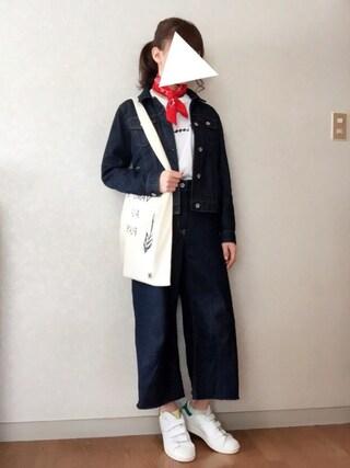Reiさんの「【CHAMPION】ロゴTシャツ(Champion チャンピオン)」を使ったコーディネート
