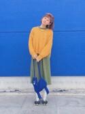 dokikoさんの「Monki Fine Knit Sweater(Monki|モンキ)」を使ったコーディネート