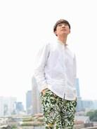 ホワイトマウンテニアリングのボタニカル柄ショーツにキクスドキュメントのシャツを合わせて夏コーデ☆
