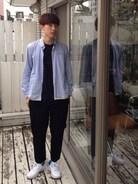 おはようございます(*^^*) 今日はDIGAWELのシャツをさらっとはおってリラックススタイルです。  シャツ DIGAWEL  トップス ボンジュールレコード パンツ コムデギャルソンオムプリュス 靴 NIKE×フラグメントデザイン ネックレス kazuki namiki  少し涼しくなって  長袖が気持ちいいですね♪