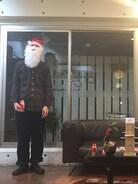 メリークリスマス��!  今日はXmasなのでサンタコーデで決めてみました♪  シャツ イギリス古着 パンツ sacai 靴 y's