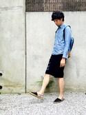 shojisanさんの「CHEMISE SERGES 15A(A.P.C. アー・ペー・セー)」を使ったコーディネート
