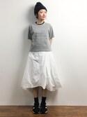 ちばゆきZさんの「【ViVi4月号掲載】衿配色ポケットT(MULLER|ミューラー)」を使ったコーディネート