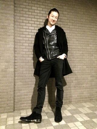 TADANOBUASANO さんの「◆ARCOLLETTA PADRONE×BEAMS / 別注 スエード バック ZIP ブーツ(BEAMS|ビームス)」を使ったコーディネート
