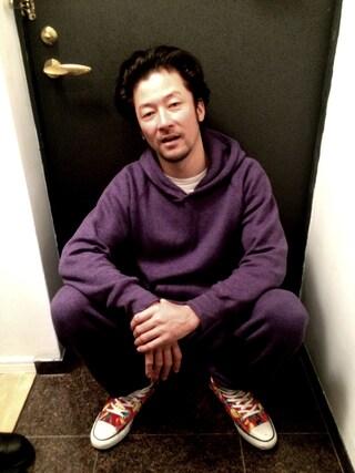 TADANOBUASANO さんの「sweat raglan pull- over hooded(gym master|ジムマスター)」を使ったコーディネート