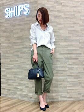 SHIPS 神戸店|倉重さんの(SHIPS for women|シップスフォーウィメン)を使ったコーディネート