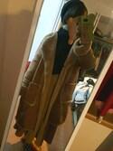 mitaponさんの「PPフェイクムートンノーカラーコート(natural couture|ナチュラルクチュール)」を使ったコーディネート