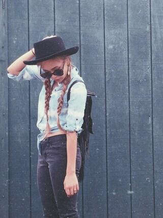 「Vintage hat(VINTAGE)」 using this Rie Victoria Aoki looks