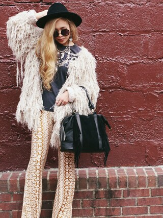 「Shaggy jacket(FREE PEOPLE)」 using this Rie Victoria Aoki looks