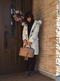 「Gucci Bamboo Large Shopper Tote Bag, Beige(Gucci)」 using this etsuko looks