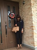 「Gucci Bamboo Shopper Medium Textured-Leather Tote(Gucci)」 using this etsuko looks