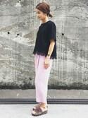 itoさんの「裾レースTシャツ(GRACE CONTINENTAL|グレースコンチネンタル)」を使ったコーディネート
