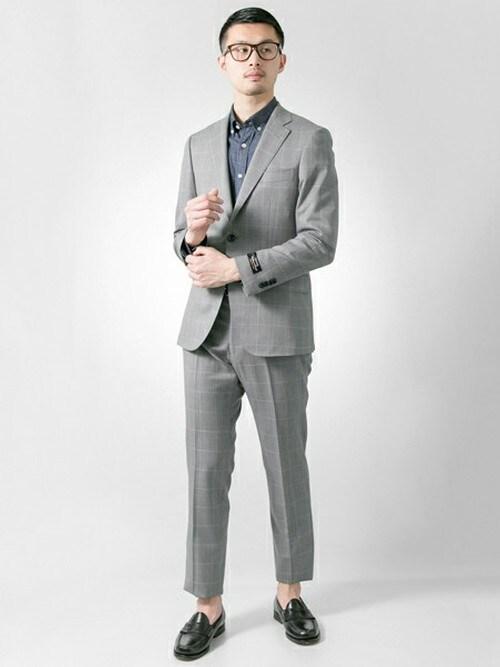 アーバンリサーチ 堀江店 | kondouさんの「URBAN RESEARCH URTailor サージ WP スーツ」を使ったコーディネート
