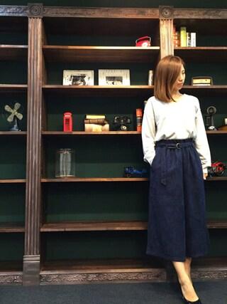 STYLEST|aya*meさんの「<大桑マイミさん着用>ベロア ウエストタックパンツ(STYLEST|スタイレスト)」を使ったコーディネート