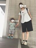 fu.chanさんの「グログランヘアゴム(Lara&Heart|ララアンドハート)」を使ったコーディネート