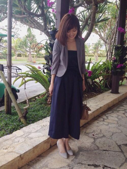 パンツドレス参考コーディネート画像 RANDAスタッフのnishiさん