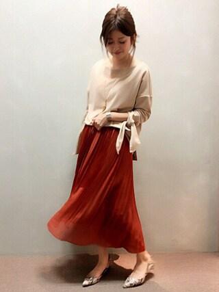 RANDA 本社|nishiさんの「エアリープリーツスカート(RANDA|ランダ)」を使ったコーディネート