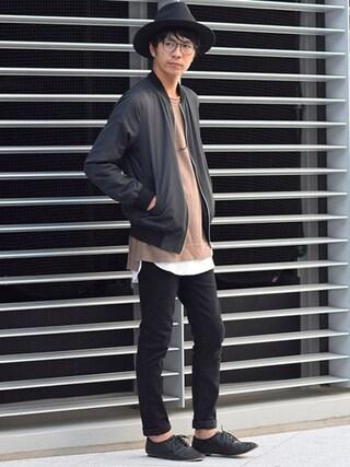 タカシ@Dコレさんの「MA-1ジャケット」を使ったコーディネート
