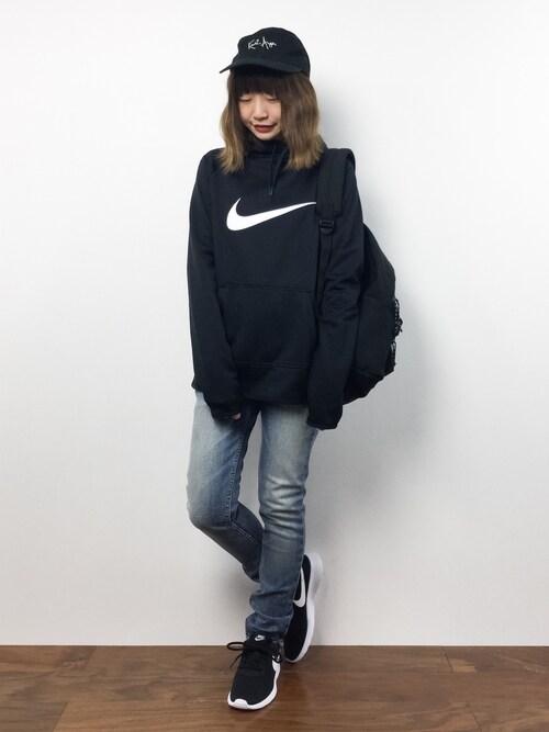 シンプルなNIKEファッション