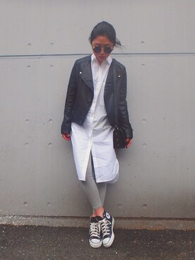 「Topshop Faux Leather Biker Jacket(Topshop)」 using this yuiko looks